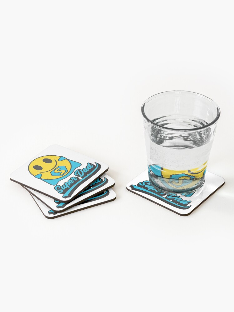Alternate view of Super Dad Emoji Company Yellow Face Coasters (Set of 4)