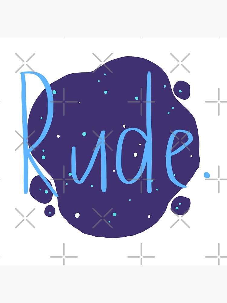Rude - Finnley by authorlwinter