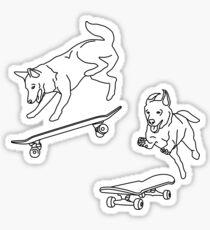 skater dogs Sticker