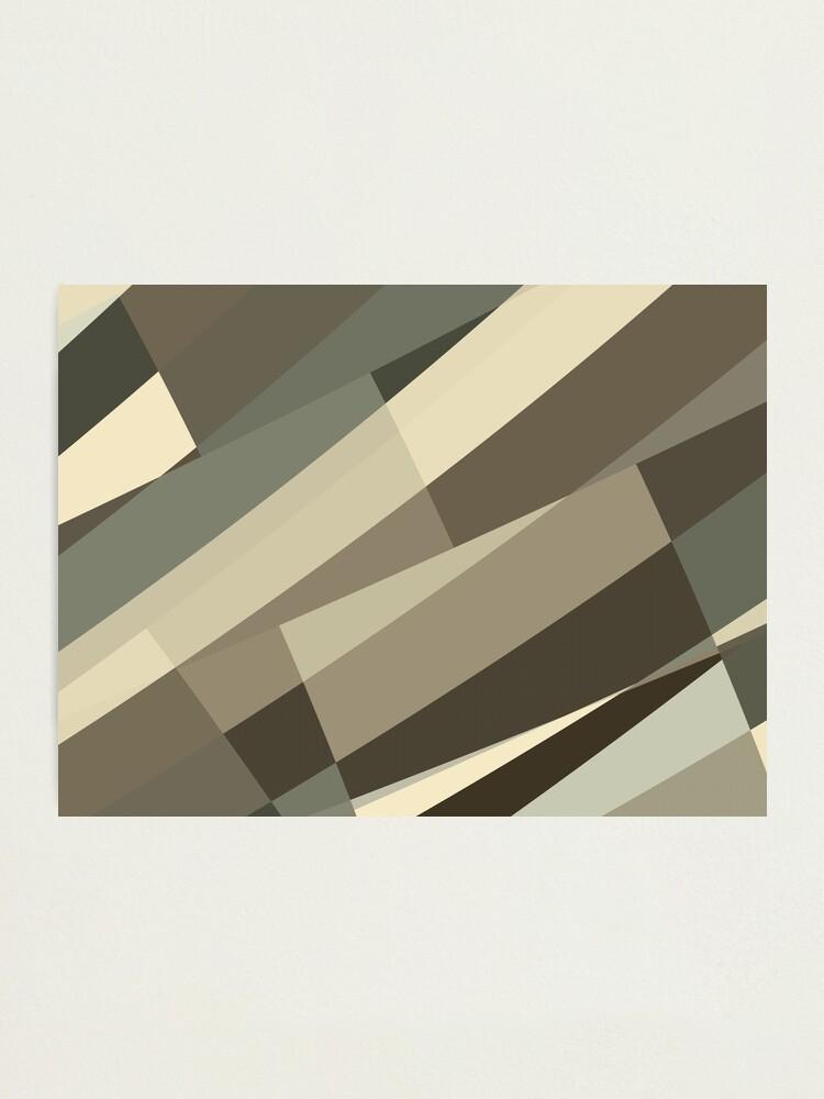 Alternate view of Camo Leopard Zebra Stripes Pattern  Photographic Print