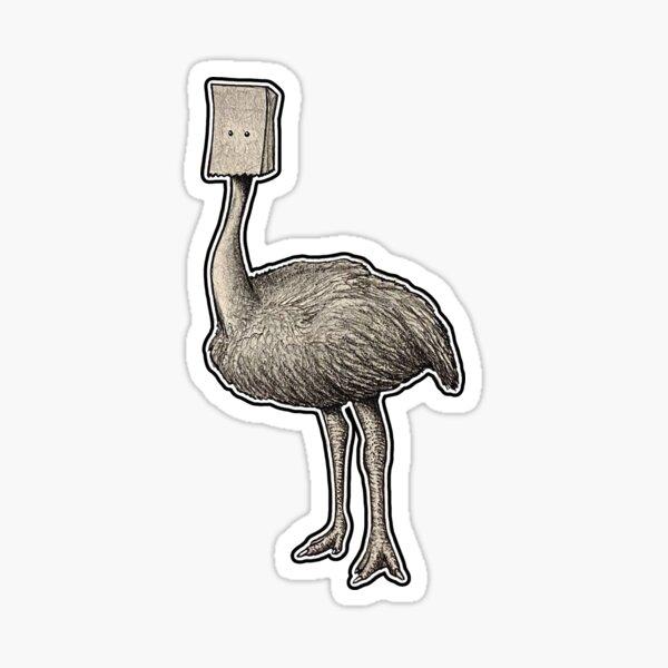Ostrich Hiding Sticker