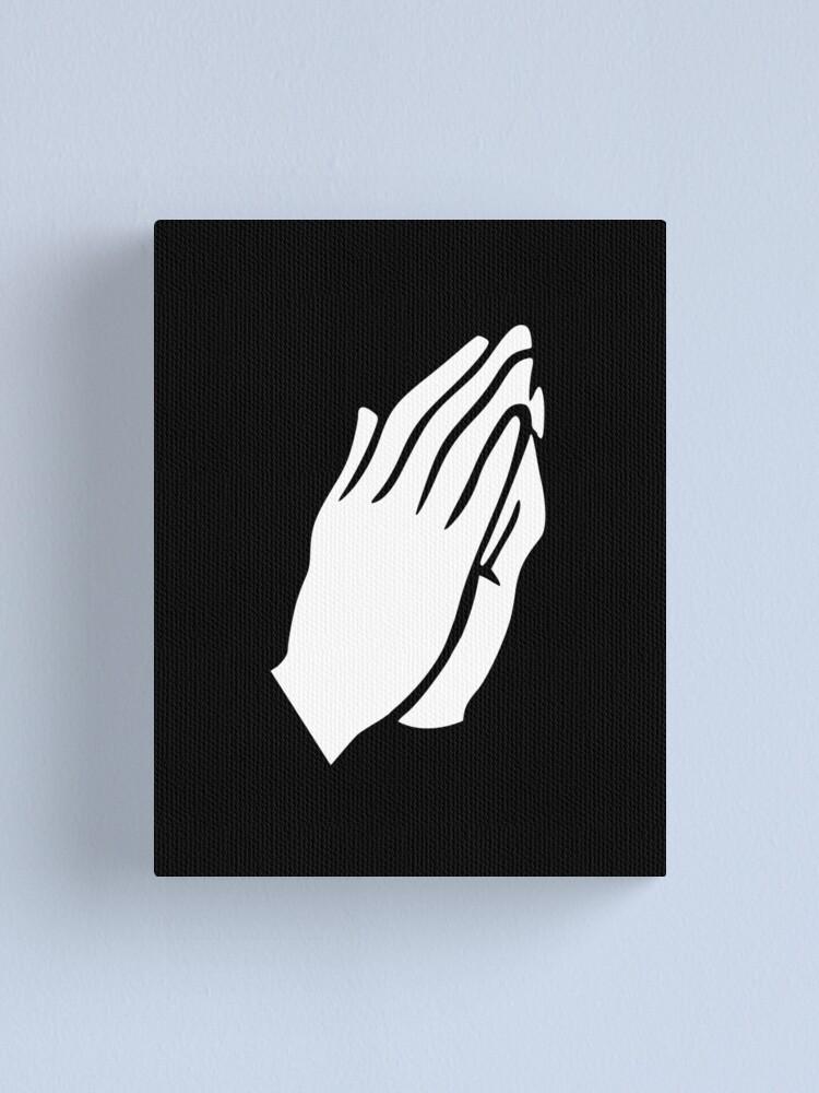 Vista alternativa de Lienzo Manos de oración