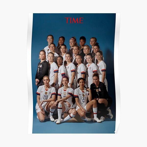 Coupe du monde féminine USWNT TIME 2019 Poster