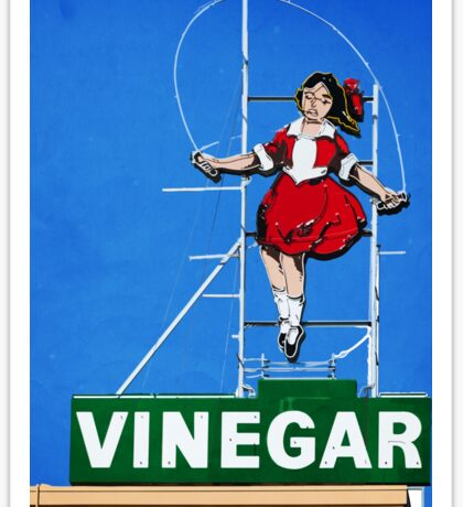Skipping Girl Vinegar Sticker