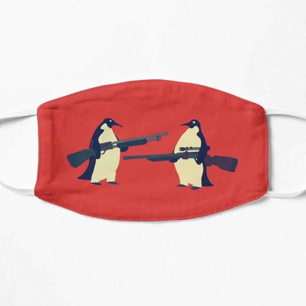 Pingüinos con armas Mascarilla plana