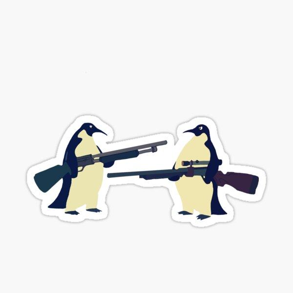 Pingüinos con armas Pegatina
