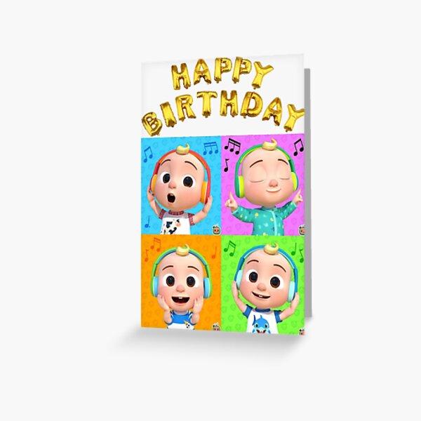 Happy Birthday Nursery CocoMelon Family Greetings Card Greeting Card