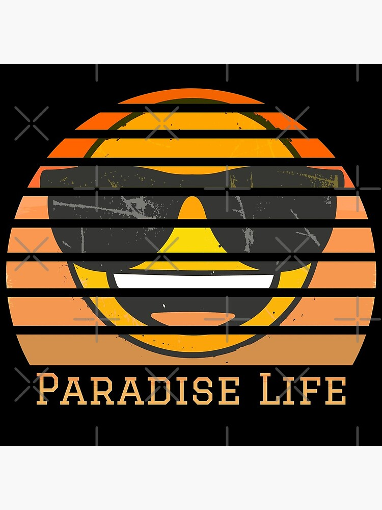 Paradise Life Emoji Company Vintage Sunset by LAQueenDee