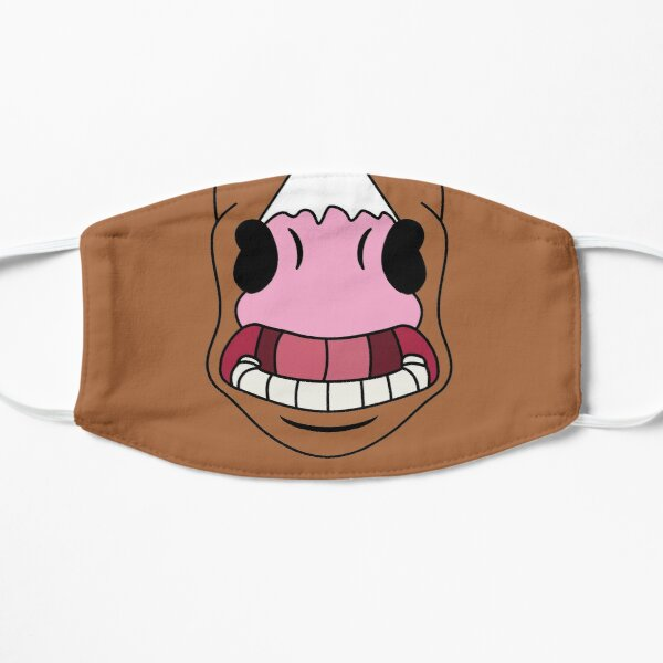 Cavalier de Bojack. Bouche de cheval de dessin animé. Masque sans plis