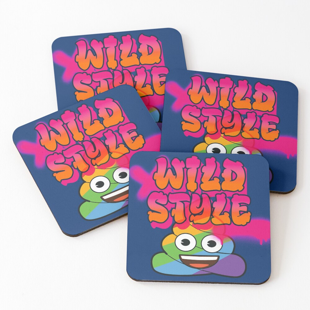 Wild Style Emoji Company Colorful Spray Paint Art Coasters (Set of 4)