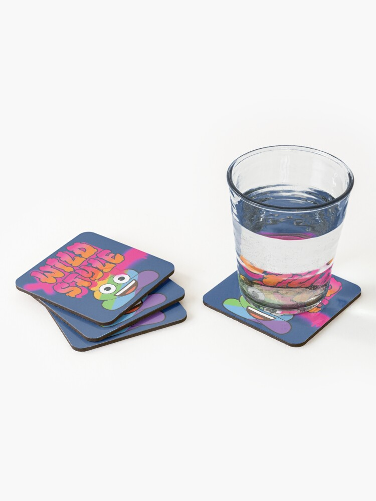Alternate view of Wild Style Emoji Company Colorful Spray Paint Art Coasters (Set of 4)