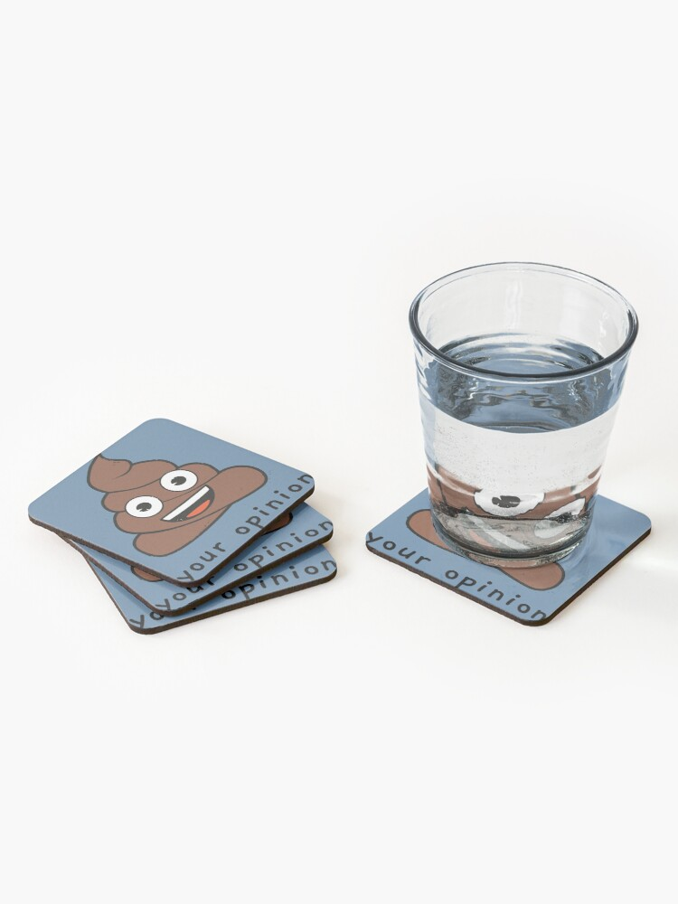 Alternate view of Funny Your Opinion Emoji Company Poop Coasters (Set of 4)
