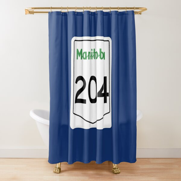 Manitoba Provincial Highway 204 (Area Code 204) Shower Curtain