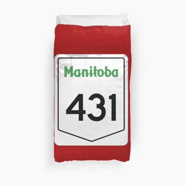 Manitoba Provincial Highway 431 (Area Code 204) Duvet Cover