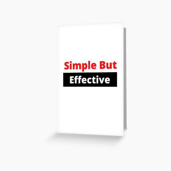 Do you like to keep your dress code simple but effective. Greeting Card