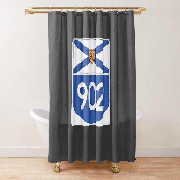 Nova Scotia Provincial Highway 902 (Area Code 902) Shower Curtain