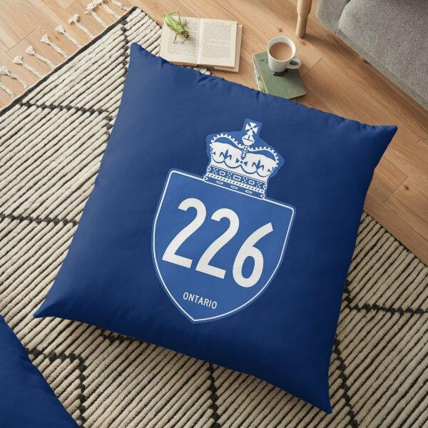 Ontario Provincial Highway 226 (Area Code 226) Floor Pillow