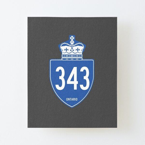 Ontario Provincial Highway 343 (Area Code 343) Canvas Mounted Print