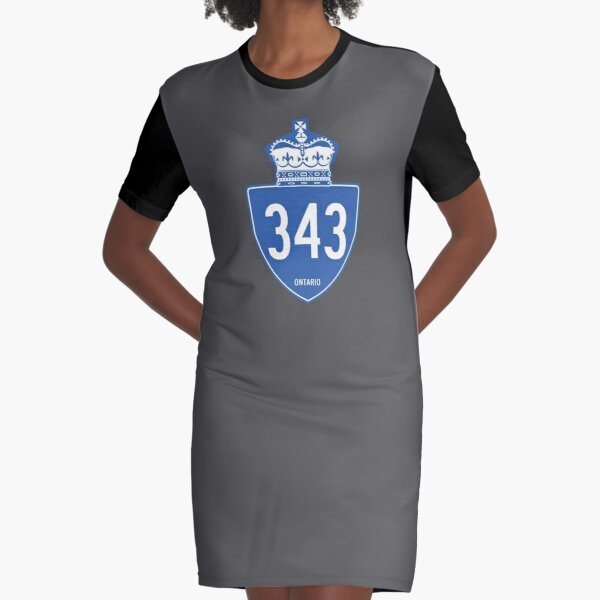 Ontario Provincial Highway 343 (Area Code 343) Graphic T-Shirt Dress