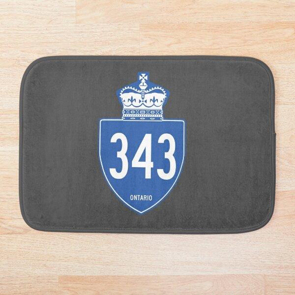 Ontario Provincial Highway 343 (Area Code 343) Bath Mat