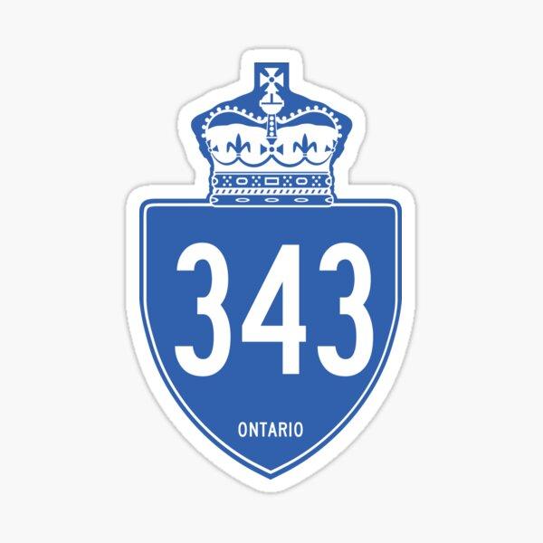 Ontario Provincial Highway 343 (Area Code 343) Sticker