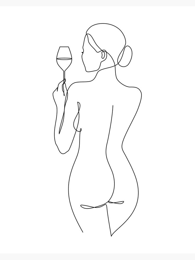 Naked Women Line Art