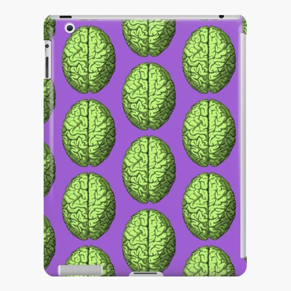 Green Colored Antique Head and Brain Anatomy Illustration iPad Snap Case