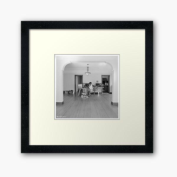 Dilla In The Studio Framed Art Print
