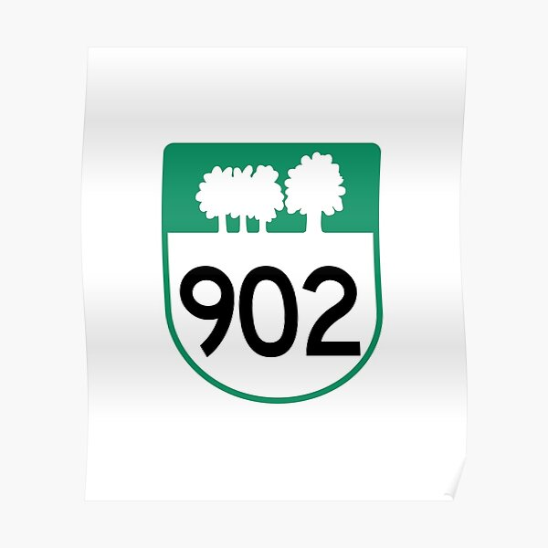 Prince Edward Island Provincial Highway 902 (Area Code 902) Poster