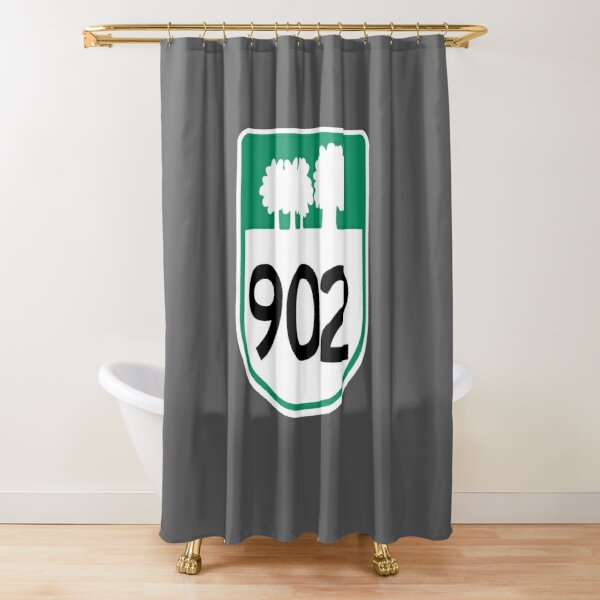 Prince Edward Island Provincial Highway 902 (Area Code 902) Shower Curtain