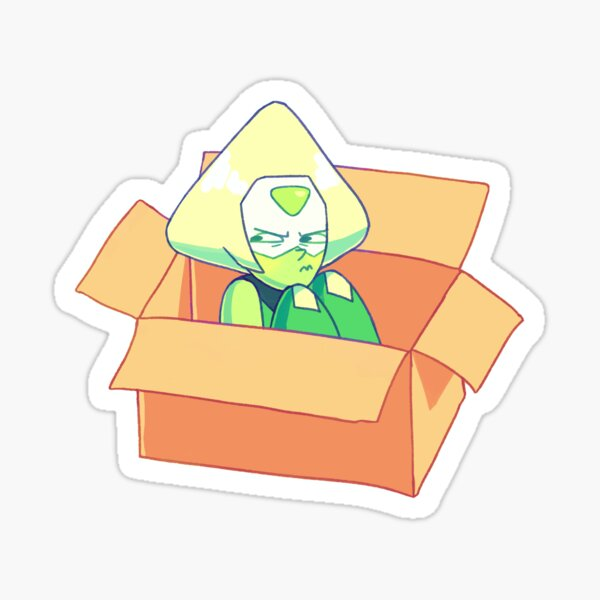 peridot in a box Sticker