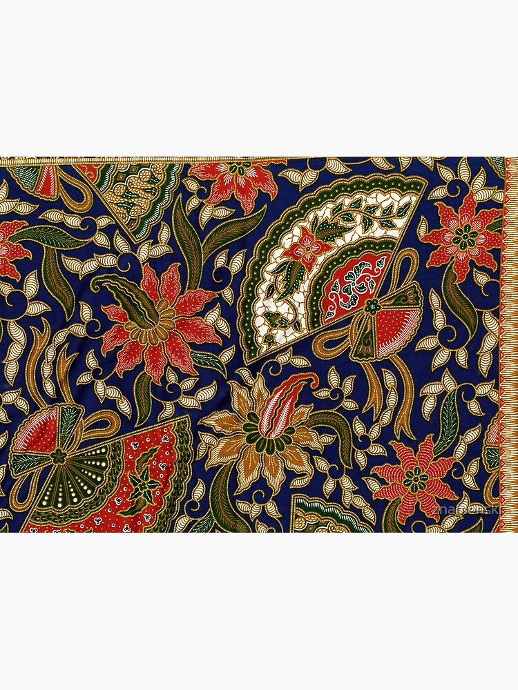 Red, blue, green, pattern, large, flowers by znamenski