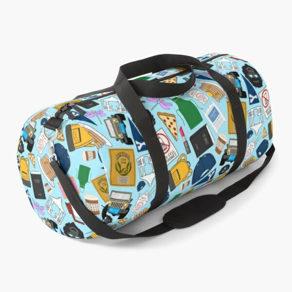 Ultimate Fan Pattern Icons All Over Print Blue Pack Duffle Bag