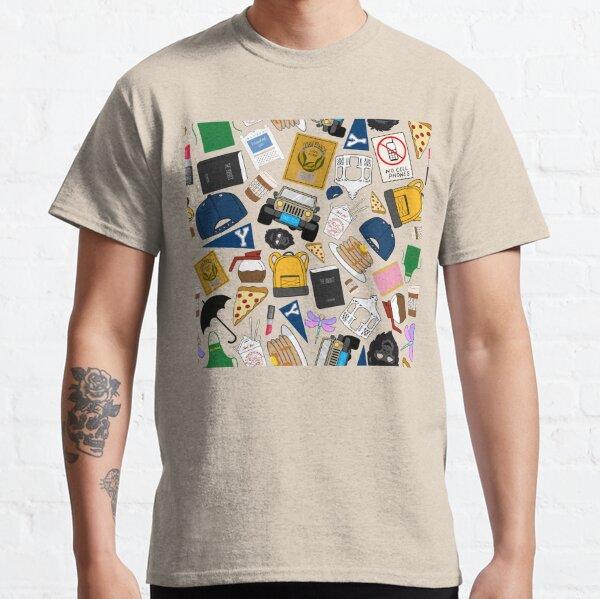 Íconos de patrón de abanico definitivos Paquete verde con estampado completo Camiseta clásica