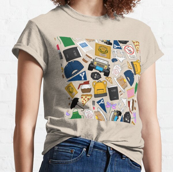 Ultimate Fan Pattern Icons All Over Print Green Pack Classic T-Shirt