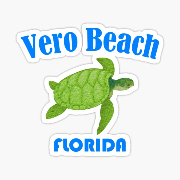 Vero Beach Florida Sea Turtle Sticker