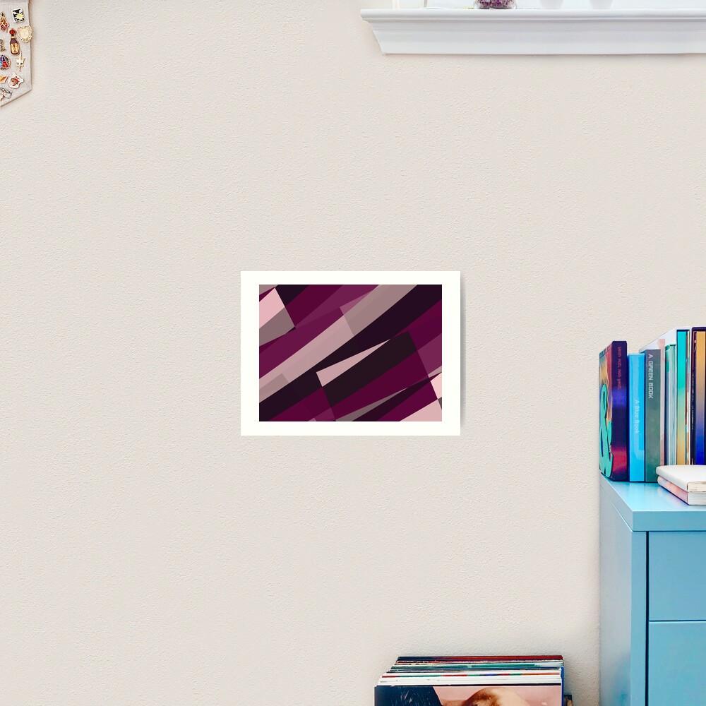 Pink Purple Leopard Design Pattern Art Print