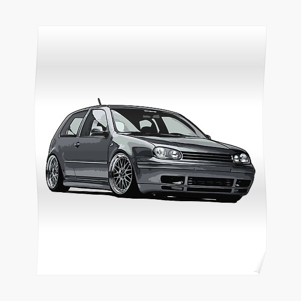 Volkswagen Golf GTI VR6 Poster