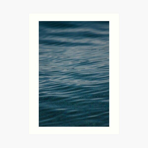 Adriatic Sea Blue Waves Art Print