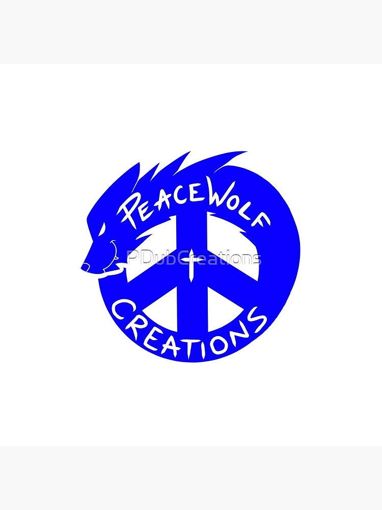 PeaceWolf Creations Official Logo by PDubCreations