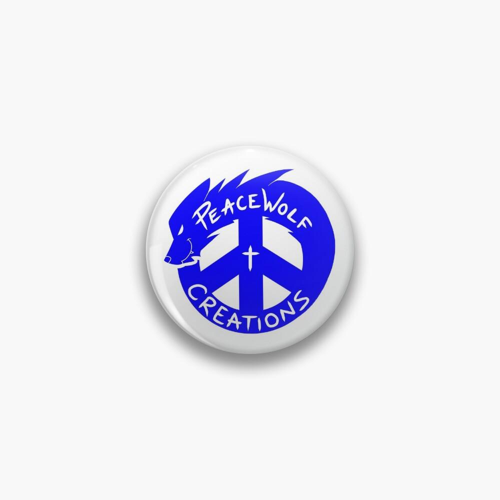 PeaceWolf Creations Official Logo Pin
