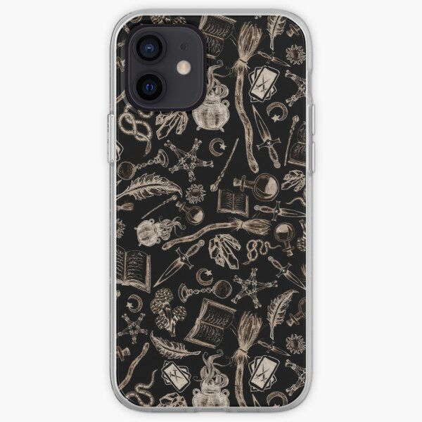Modern Witches Altar in Black and Gold iPhone Soft Case