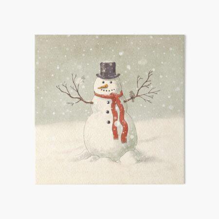 Der Schneemann Galeriedruck