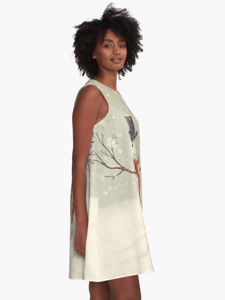 Alternate view of The Snowman A-Line Dress