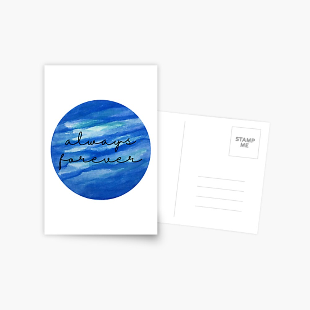 Always Forever - Finnley quote Postcard