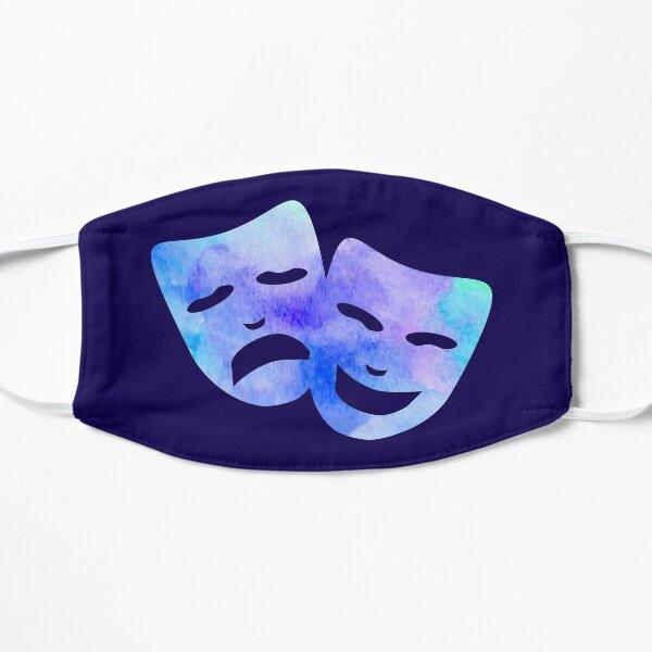 Watercolor Theatre Masks Flat Mask