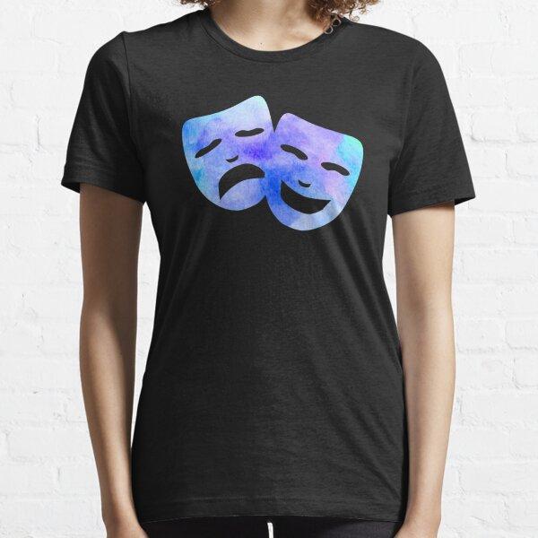Watercolor Theatre Masks Essential T-Shirt