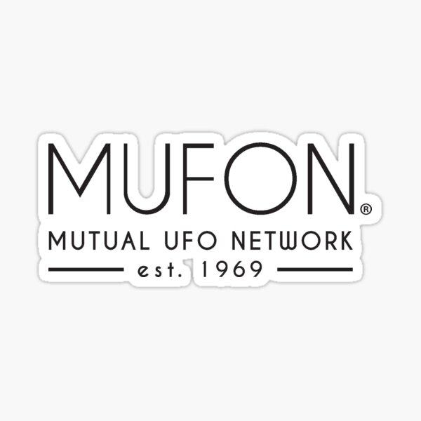 Mufon black logo Sticker