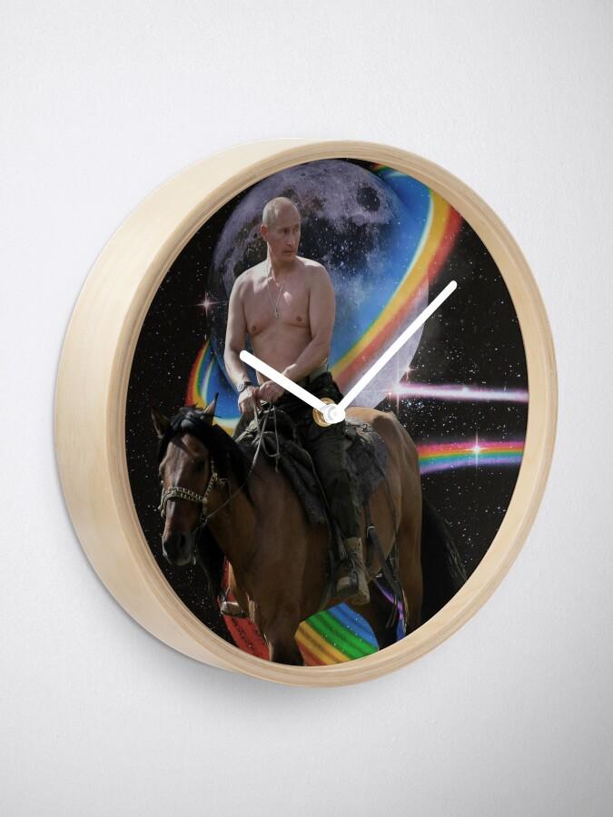 Alternate view of Putin on Horse On Rainow Road Clock