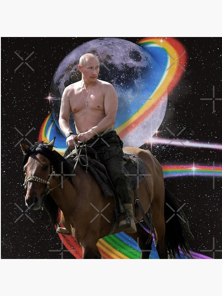 Putin on Horse On Rainow Road by Shirtness
